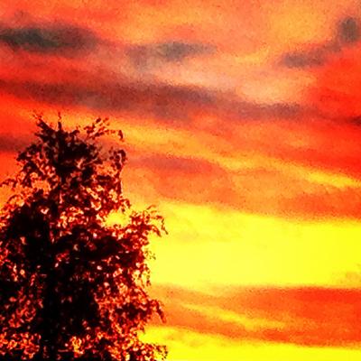 Augusti kvällshimmel bearbetad