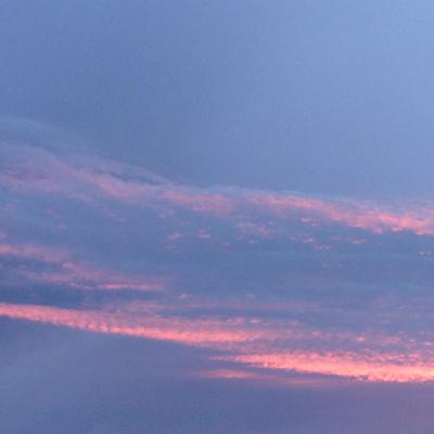 Blå o rosa himmel