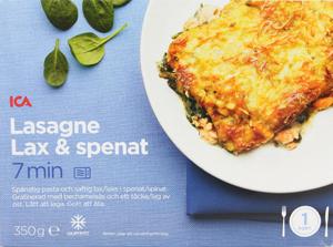 Lasagne med lax och spenat
