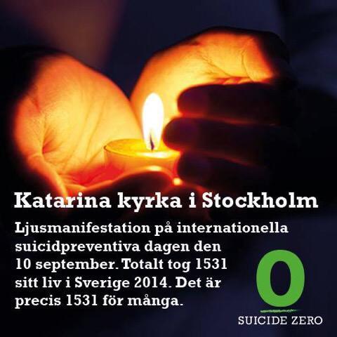 Ljusmanifestation mot självmord den 10 september
