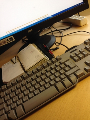 Tangentbord filofax skärm