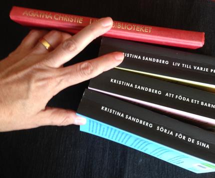 Böcker Agatha Christie och Kristina Sandbergs Maj-trilogi