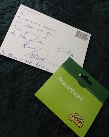 Kort och presentkort från Blomsterlandet