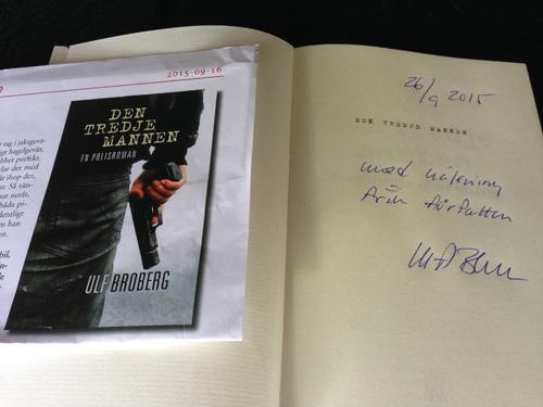 Ulf Broberg signerade mitt ex av Den tredje mannen