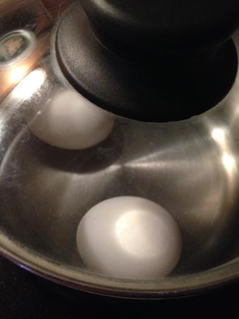Ägg i kastrull