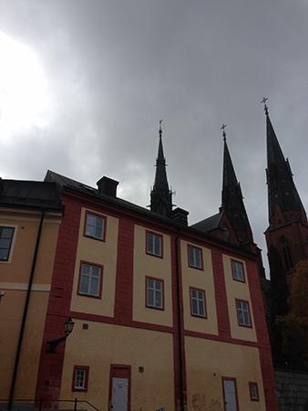 Domkyrkotornen foto från St Eriks källa