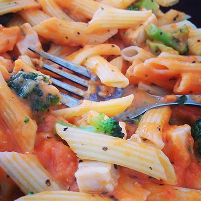 Findus pasta med kyckling o broccoli