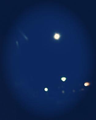 Fullmåne blått filter