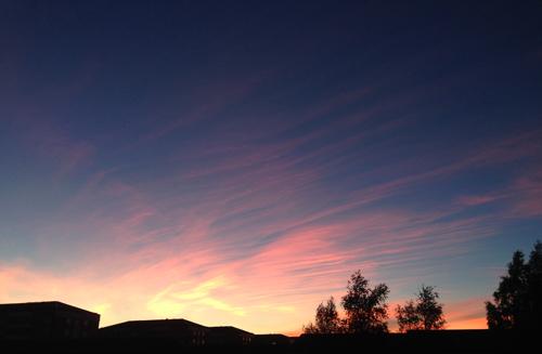 Kvällshimmel i oktober