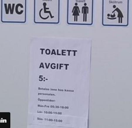 Toalett avgift