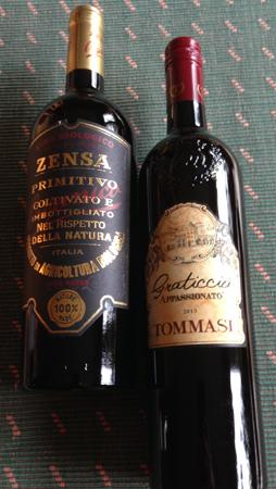 Vin Zensa Primitivo och Tommasi Graticcio