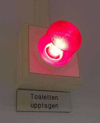 Upptagetlampan är tänd