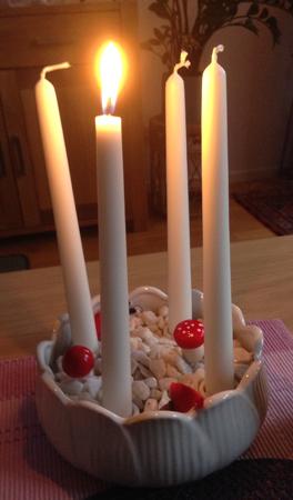 Adventsljusstake första advent
