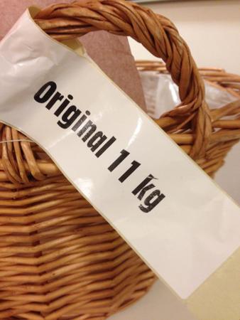 Korg med lapp original 11 kilo