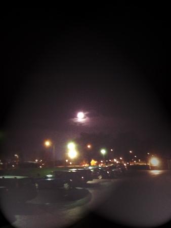 Kvällshimmel  vid parkeringen november