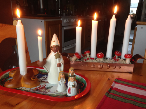 Luciatåg och tredje advent