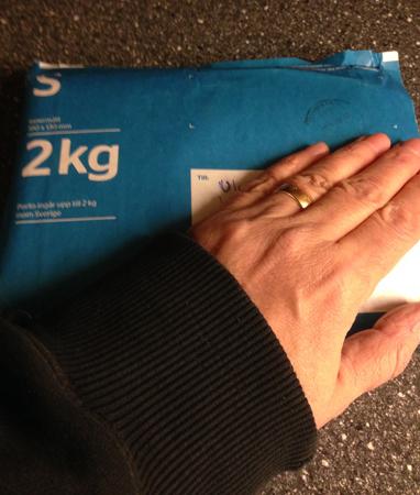 Blått paket