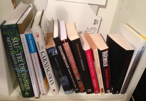Olästa böcker diverse köpta eller fådda