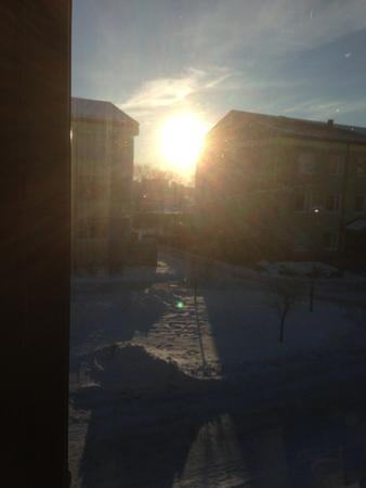 Solig vinterlördag i januari
