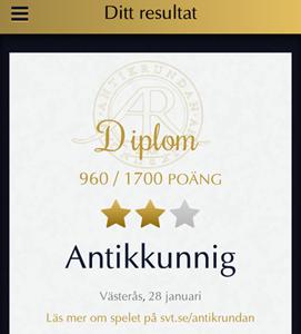 Diplom Antikkunnig i Västerås