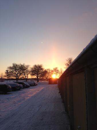 Solnedgång på eftermiddagen