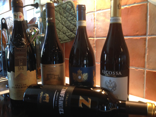 Fem italienska viner