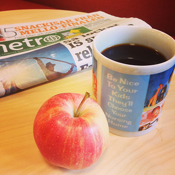 Äpple kaffe Metro