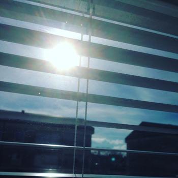 Sol mellan persiennerna