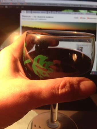 Ett glas vin