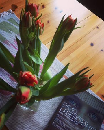 Tulpaner och bok