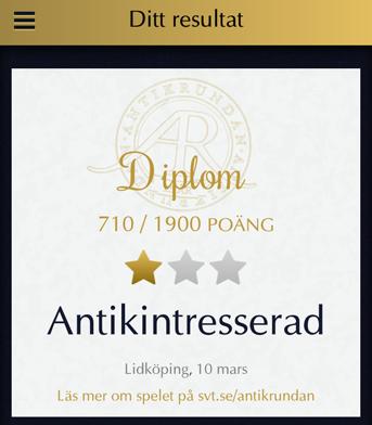 Antikintresserad Lidköping 2