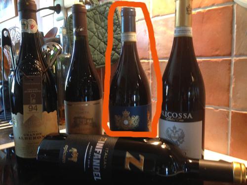 Fem italienska viner Conero riserva 2012 inringad