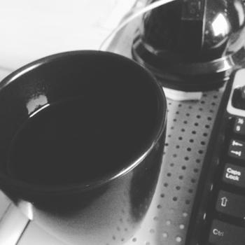 Kaffe vid datorn