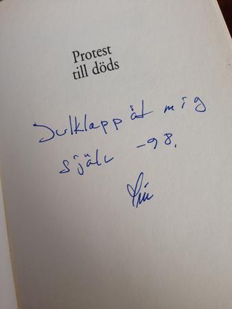 Sivs anteckning i en bok