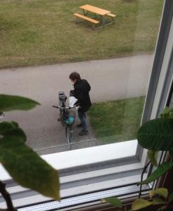 Agneta ska cykla hem