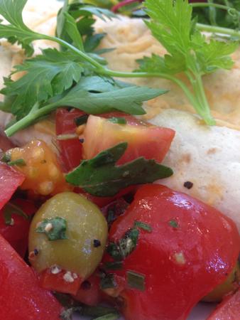Grönsaker och vegetariska enchilladas