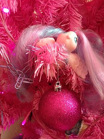 Rosa julgranspynt