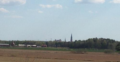 Uppsalasilhuetten med slottet och Domkyrkan
