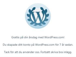 Grattis på din årsdag med WordPress