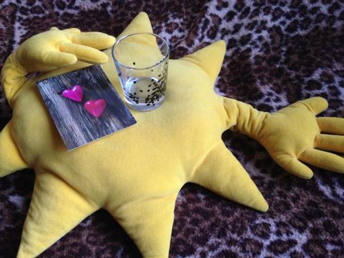 Solkudde kort och glas